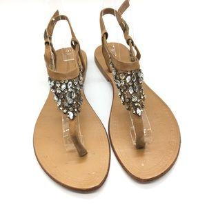 Antik Batik Beaded Mesh Thong Sandal Sz 39